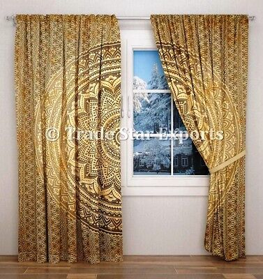 Indian Ombre Mandala Curtains Decorative Sheer Curtains Boho Wall Drapes Panel