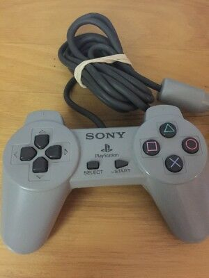 Official Original Sony Playstation 1 PS1 Wired Controller Gray SCPH-1080