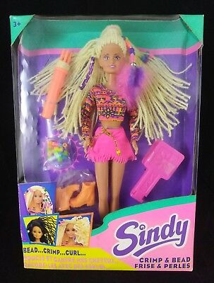 "RARE 1994 Hasbro ""Sindy"" Crimp & Bead Doll-New & Sealed -UK Release!!"