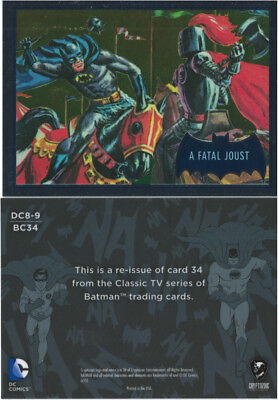 Justice League Batman Classic TV Series SDCC Promo Card DC8-9 Cryptozoic 2016