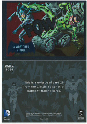 Justice League Batman Classic TV Series SDCC Promo Card DC8-3 Cryptozoic 2016