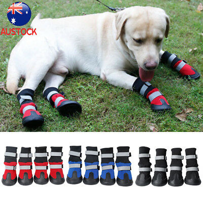 4X Pet Dog Shoes Waterproof Boots Booties Autumn Winter Outdoor Warm Non-slip