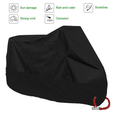 Black XXXXL Motorcycle Cover For Harley Davidson Electra Glide Ultra Classic