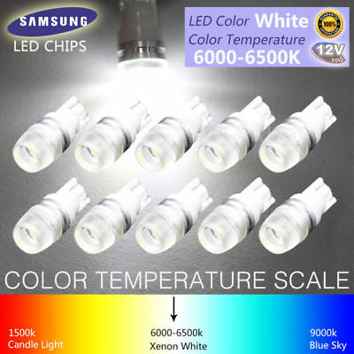 10X T10 Wedge 5730 Samsung High Power 1W LED Light Bulb Xenon White 168 194