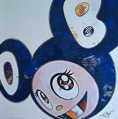 """Takashi Murakami"" And Then x 727 (Ultramarine GUNJO). Signed. Kaikai Kiki."