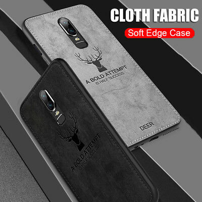 Shockproof Hybrid Matte Silm Cloth Fabric Soft TPU Case Cover For Oneplus 6T 6