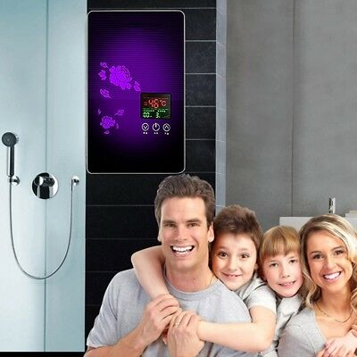 Tankless Instant Electric Hot Water Heater Boiler Bathroom Shower