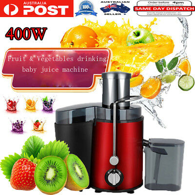 1L 400W Electric Fruit Vegetable Juicer Machine Juice Extractor Stainless Steel