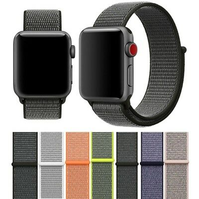 40/44MM Nylon Woven Sport Loop iWatch Band Strap for Apple Watch Series 4/3/2/1