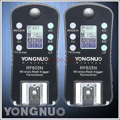 Yongnuo Wireless Flash Trigger RF-605 LCD for Nikon D5500 D5300 D3300 D3100 D90