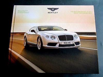 BENTLEY CONTINENTAL GT V8S  inc CONVERTIBLE - UK 2014 HARDBACK BROCHURE W12