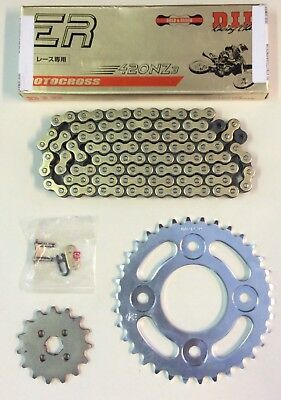 DID Heavy Duty Gold Drive Chain & JT Sprocket Kit Honda Z125 Monkey 2018-2019