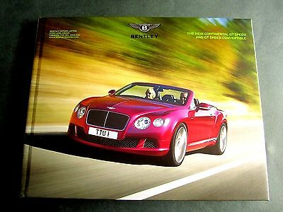 Bentley Continental Gt Gtc Speed  Convertible - Uk 2014 Hardback Brochure W12