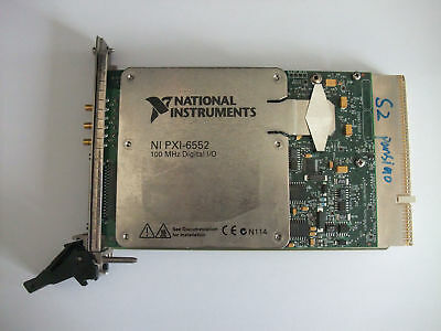 100% TEST National Instruments NI PXI-6552 100 MHz Digital I/O Board