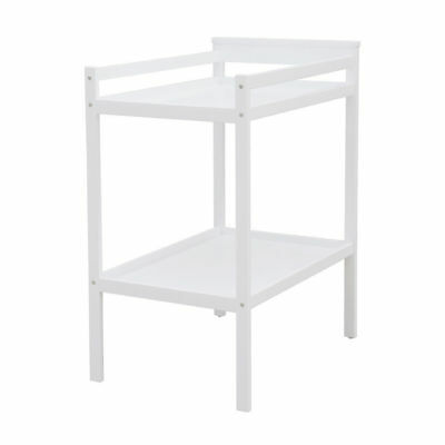 Universal 2 Tier Change Table White classic Look Basic Storage Durable Quality