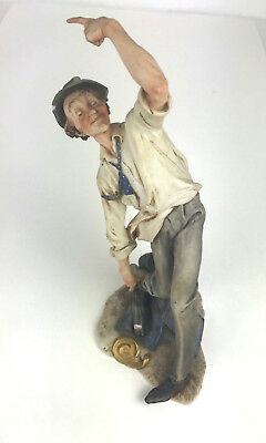 """Capodimonte """"The drunk"""" By Giuseppe  Cappe 7"""" tall  Pre-Owned"""
