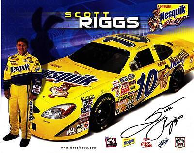 Scott Riggs Signed Autograph 8X10 Photo Picture Image Nascar