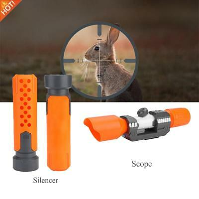 Tactical Scope Sight/Silencer Attachment Shoulder Stock Plastic Nerf Modify Toy.