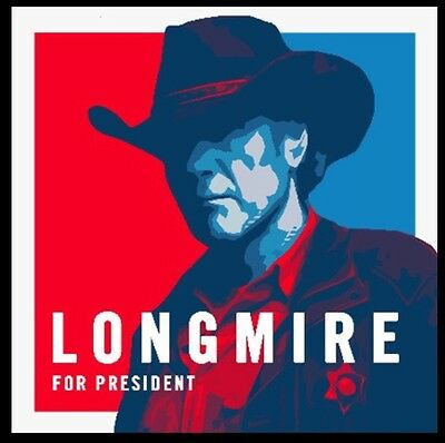 New! Walt Longmire For President Campaign Election Bumper Sticker TV Show