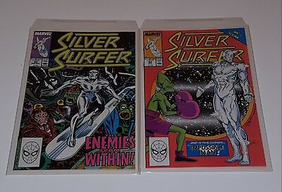 Silver Surfer (2nd series) #32 & 33  (Marvel 1989)   Very Fine +