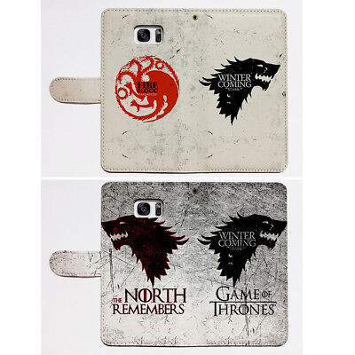 Game of Thrones Flip Wallet Phone Cover Fit For iPhone & Samsung Card Pocket