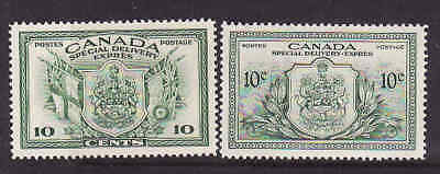 Canada-Scan #7464 - Scott cat.#E10-#E11 - KGVI - two 10c Special Delivery stamps