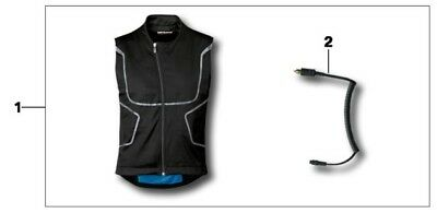 GENUINE BMW Motorrad Heated Vest & Controller. ALL SIZES **RRP £230, SAVE £40**