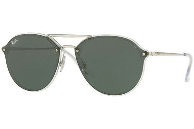 Ray-Ban RB4292N 632571 Sunglasses Silver Frame and Green Classic Lenses