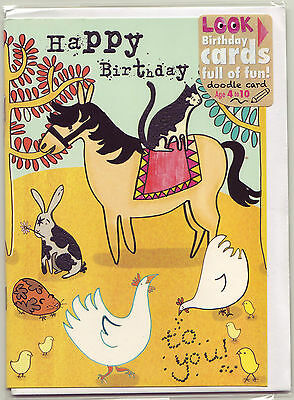 HAPPY BIRTHDAY DOODLE: PETS by Alice Lickens : WH2# : NEW CARD