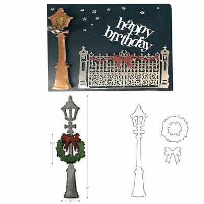 Adv-one Christmas Street light Bow Cutting Die Stencil for DIY Scrapbooking