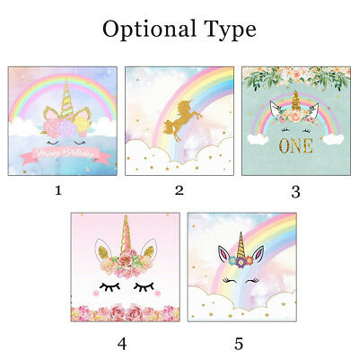 Unicorn Vinyl Cloth Wall Photography Backdrop Studio Photo Background 5x7FT UK