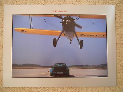 1994 Porsche 911 Turbo 3.6 Showroom Advertising Sales Poster RARE!! Awesome L@@K