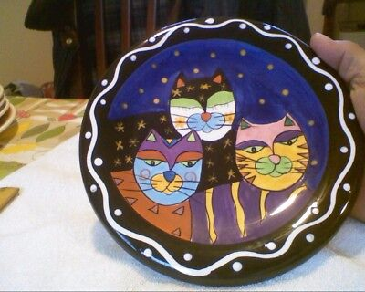 "Cat Plate 8"" Hand Painted"