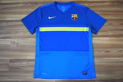 7ffc69d5e Fcb Barcelona Spain Training Jersey Shirt Men s Large Blue 2011-2012 Nike  Trikot