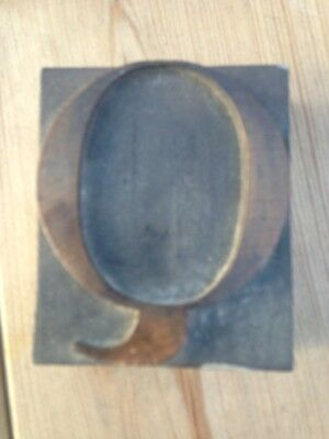 "Vintage Wooden "" Q ""Printingblock 2.5 Inch ""Q"" To Use Or To Have On Display!"
