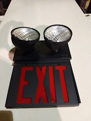 NEW IN BOX DUAL LITE EXQUISITE SERIES dual lite EXIT SIGN model EWRBB-RG
