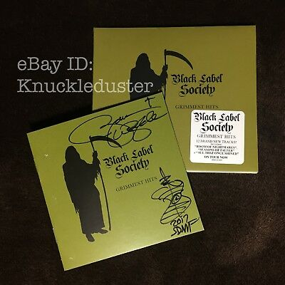Zakk Wylde Autographed Grimmest Hits CD Black Label Society Sealed Signed
