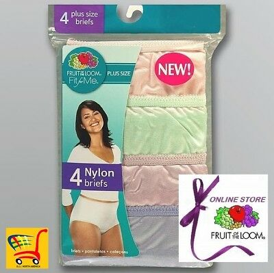 746a32cc17bd FRUIT OF THE Loom Women's Panties Fit For Me Plus Size 100% Nylon ...