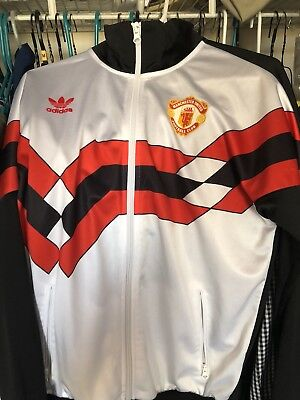 NWT Adidas Men's Manchester United Red Black Track Jacket  S