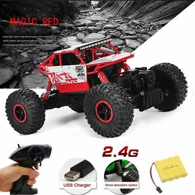 4WD RC Monster Truck Off-Road Vehicle 2.4G Remote Control Buggy Crawler Car 1/18