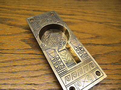 Brass Bronze Pocket Door Escutcheon...backplate...ornate Detail...nice