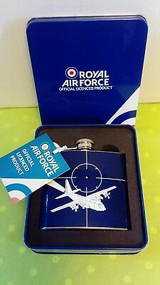 Royal air force hip flask in a tin