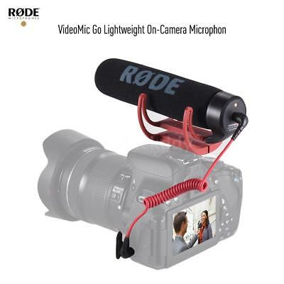 Rode VideoMic Go Microphone Fr DSLR Cameras W/Rycote Lyre Shock Mount Windshield