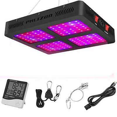 Phlizon Newest 1200W LED Plant Grow Light,with Thermometer Humidity Monitor,with