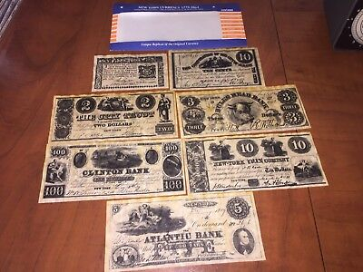 NY New York State  Paper bills Money Currency 1776 - 1864 Reproductions