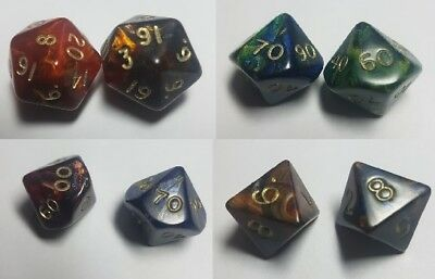 Dice & Games Magma Polyhedral Dice x 2 Multilisting D&D RPG