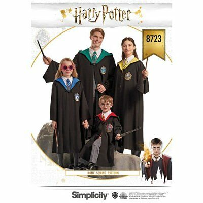 Simplicity Sewing Pattern 8723 Harry Potter Costume Childs 4-16 and Adults XS-XL