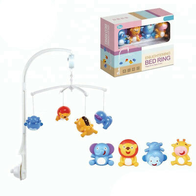 Baby Smooth Musical Mobile Nursery Toddlers With Animal Toys Cot Bed
