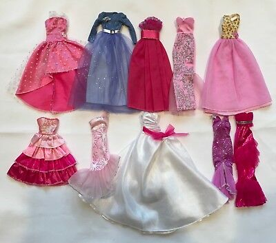 Lot Barbie Doll Clothes 10 Evening Gown Long Dresses Fashionista
