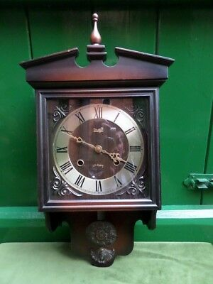 Meiji 30 Day Japan  Chiming Wall Clock Working Perfectly